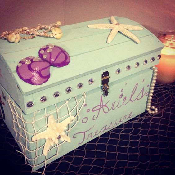 DIY Mermaid Treasure Chest.