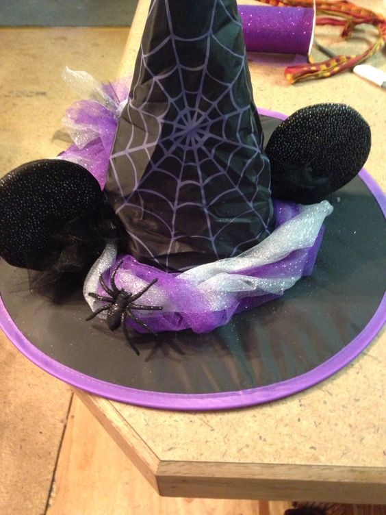 Minnie Mouse Witch Costume Hat.
