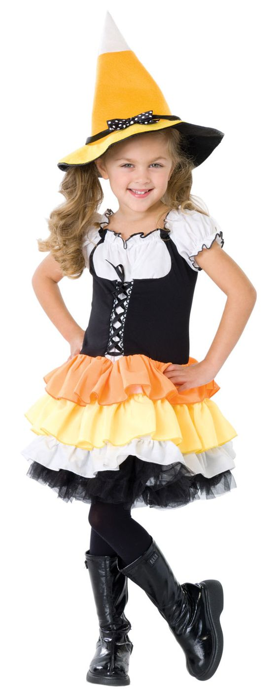 Candy Corn Witch Costume.