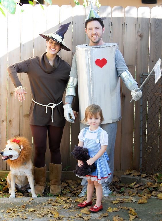 diy family wizard of oz costume