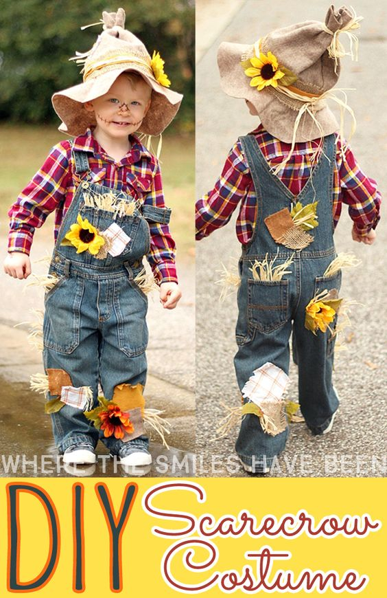 DIY Scarecrow Wizard of Oz Costume.