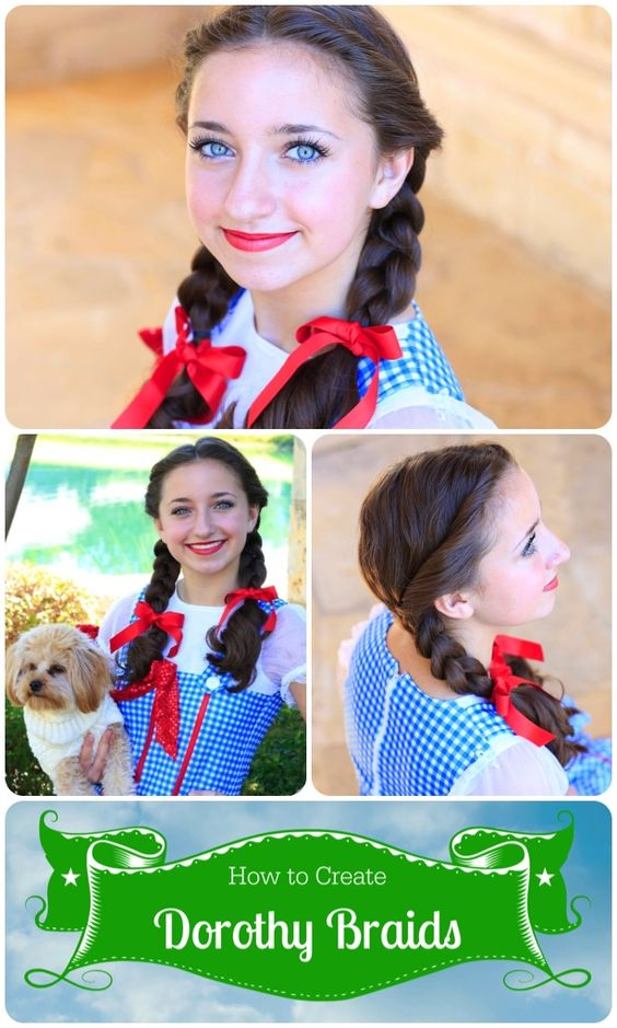 Wizard of Oz Dorothy Braids.