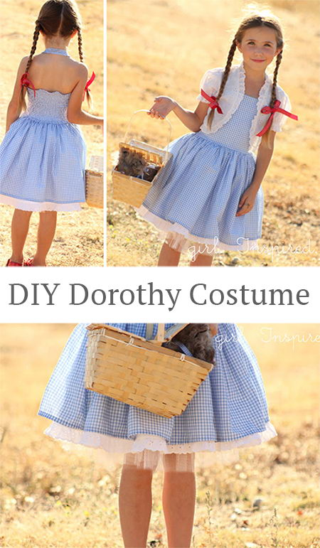 DIY Dorothy Wizard of Oz Costume.
