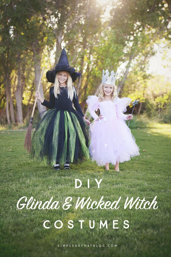 Glinda The Good Witch and Wicked Witch of The West Costume.