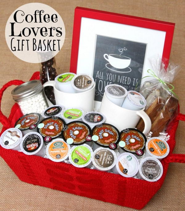 Coffee Lovers Gift Basket.