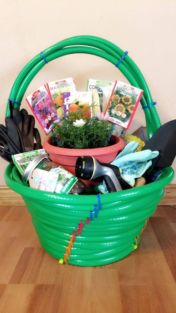 Gift Basket Made from Garden Hoses.