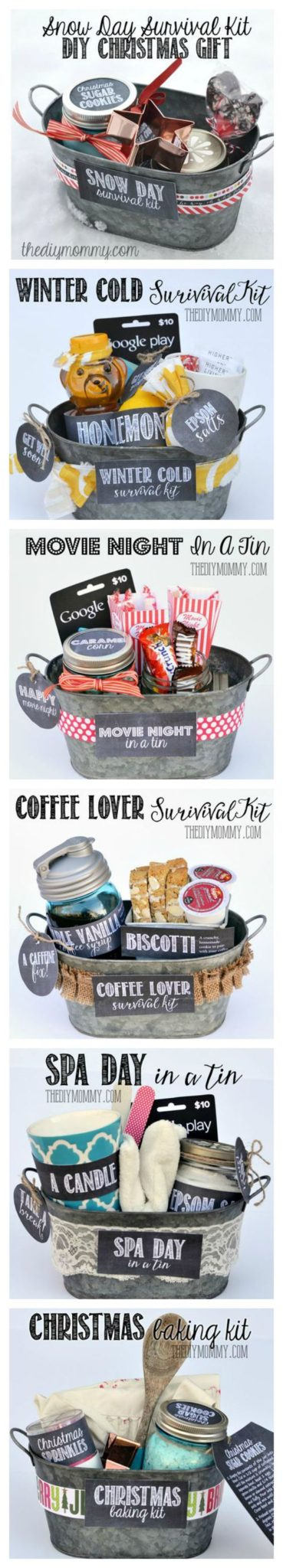 Tin Basket Gift Idea.