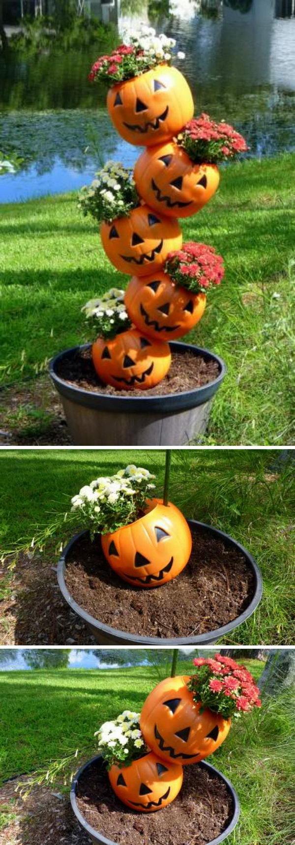 DIY Tipsy Pumpkins.