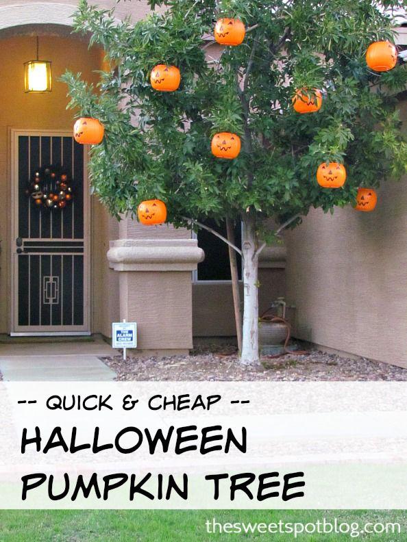 Halloween Pumpkin Tree.