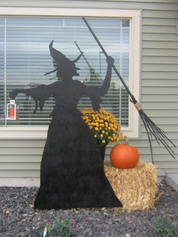 Silhouettes Halloween Witch.