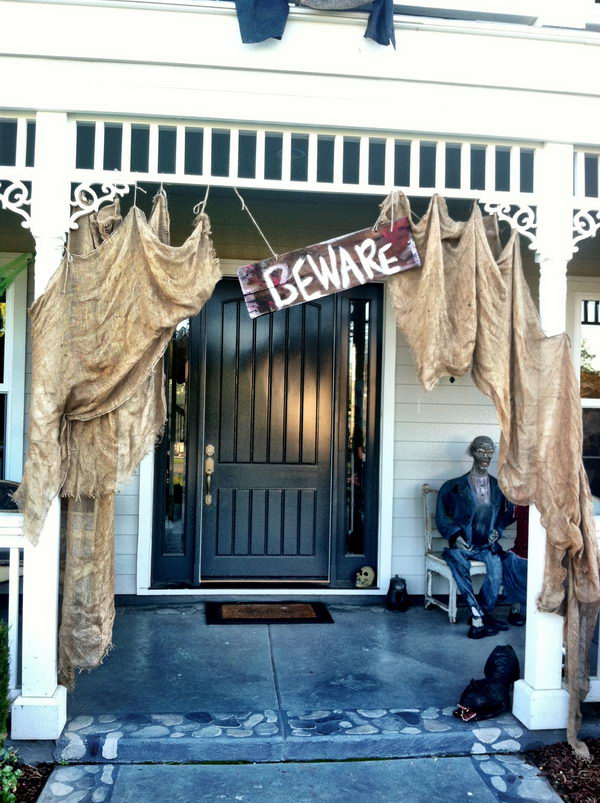 Scary Halloween Front Porch.