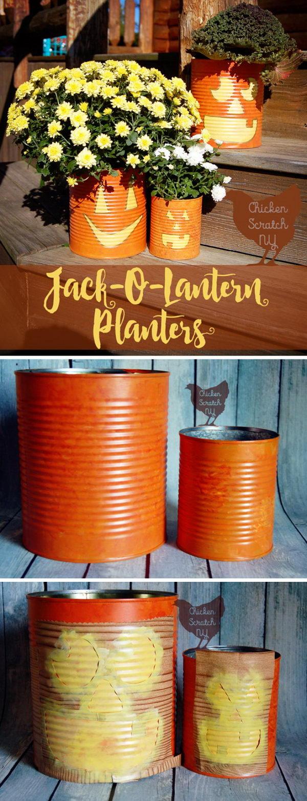 Tin Can Jack O Lantern.