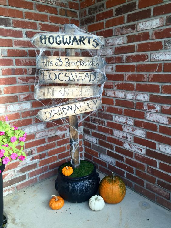 Harry Potter Porch Sign.