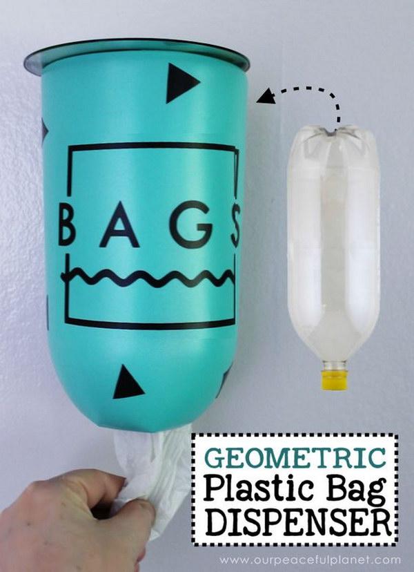 Geometric Plastic Bag Holder & Dispenser.