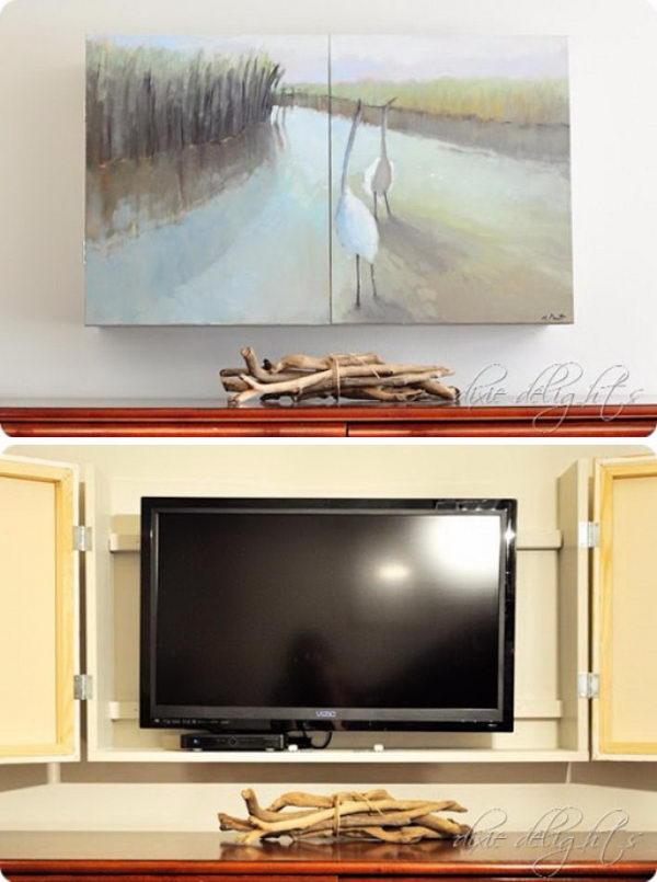 DIY Flat Screen TV Cabinet.