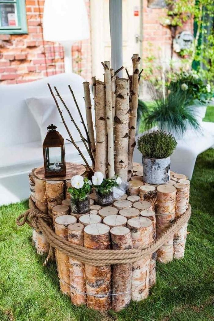 Log Side Table.