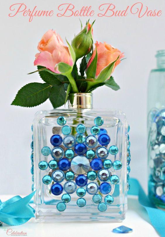 Recycled Perfume Bottle Vase.