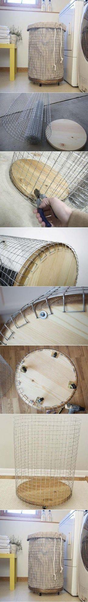 DIY Easy Laundry Basket.