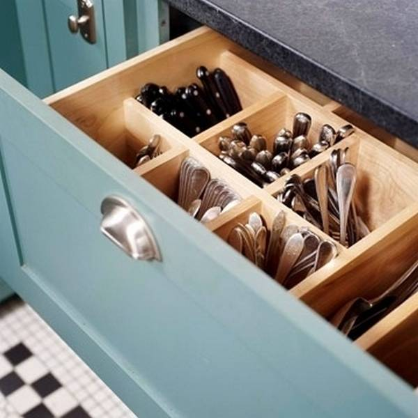 Deep Kitchen Silverware Drawer.