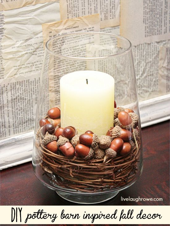 DIY Fall Inspired Decor with Nuts.
