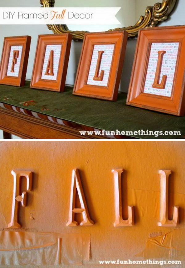 Framed Fall Decoration.