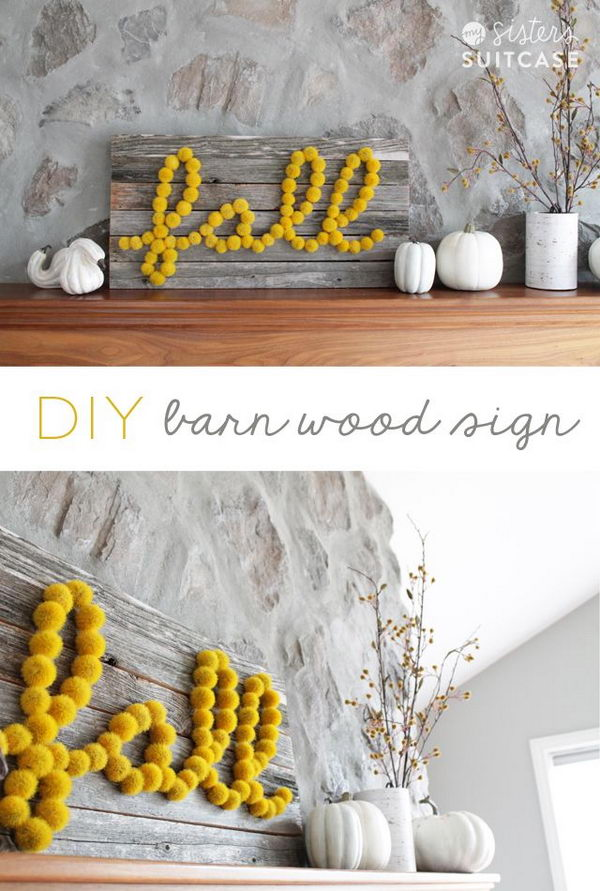 DIY Barn Wood Sign Using Hobby Lobby Meterials.