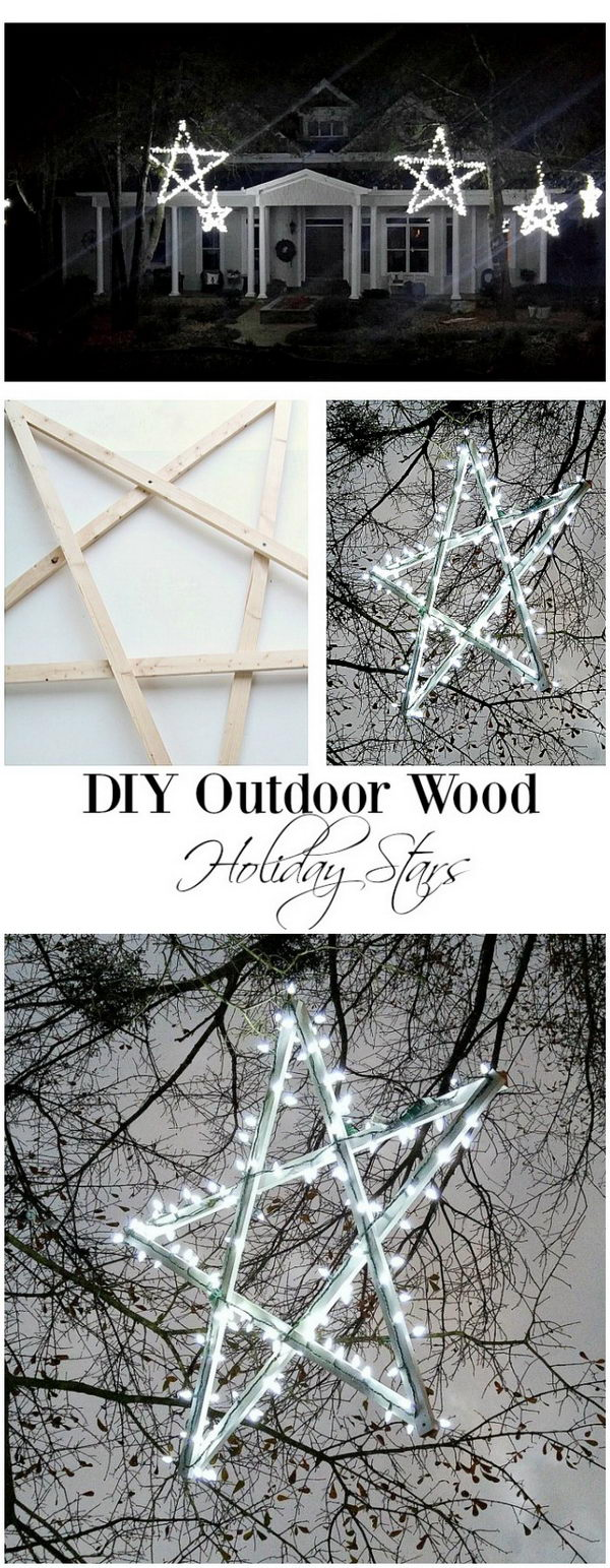 DIY Wooden Stars Christmas Decoration.
