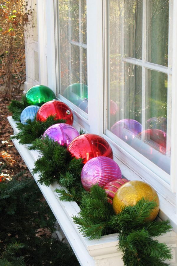 Add Ornaments To Your Window Boxes.