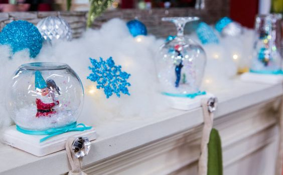DIY Snow Globe Stocking Holder.