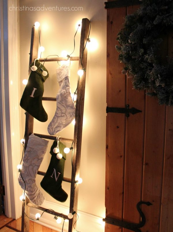 DIY Stocking Ladder.