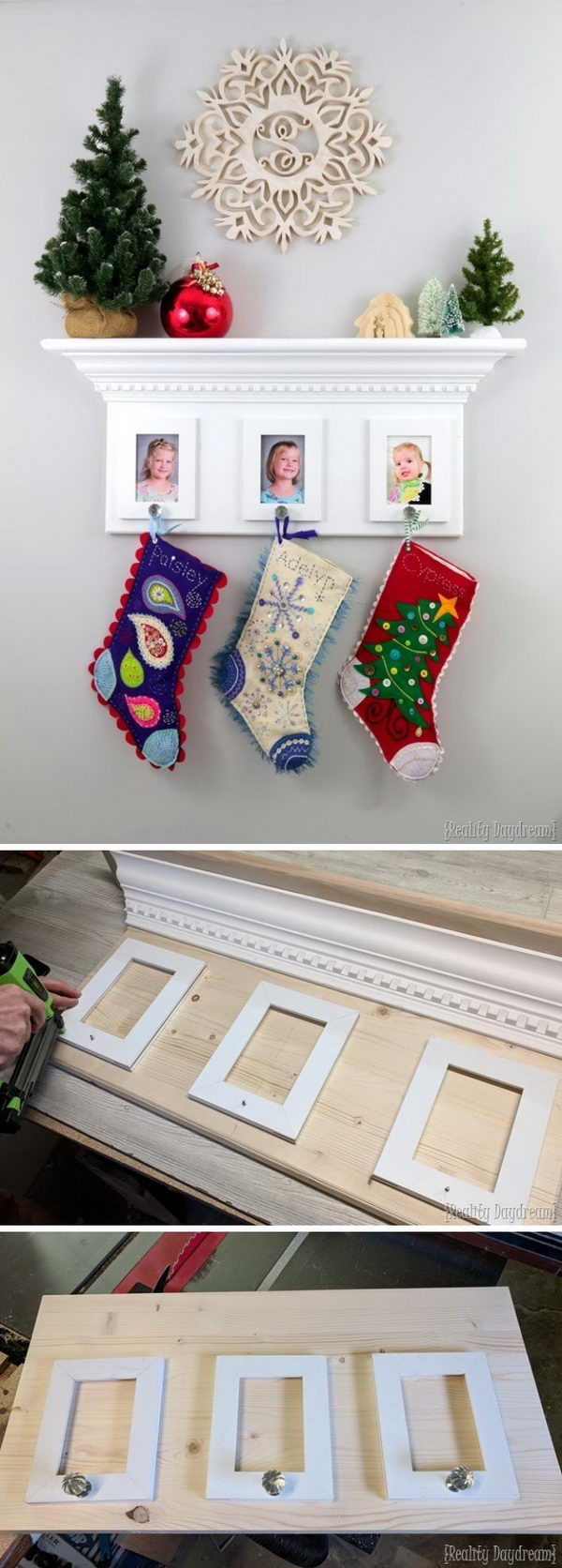 DIY Christmas Stocking Displaying Rack.