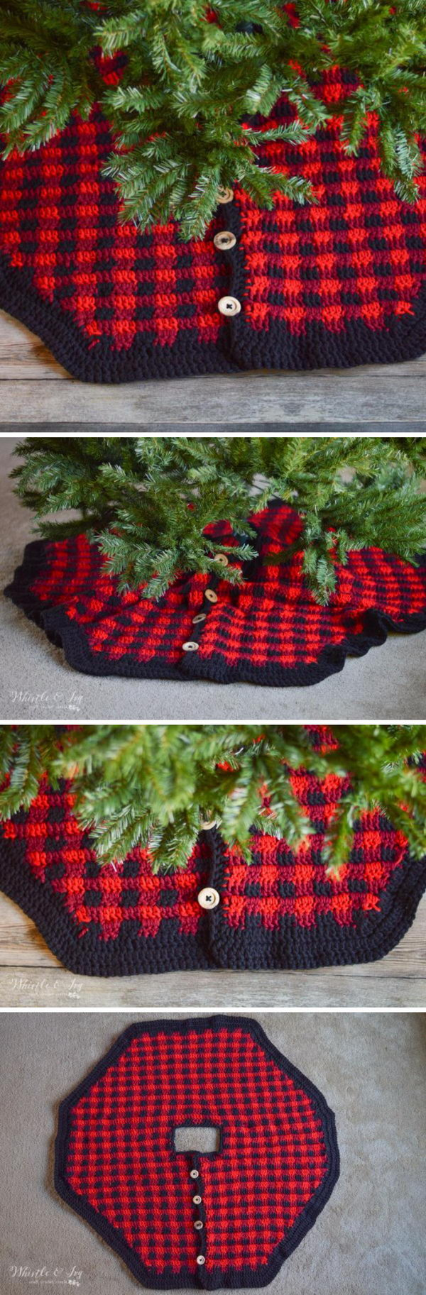 10 Crochet Christmas Tree Skirt Ideas 2017