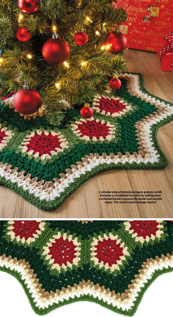 Granny Ripple Tree Skirt.