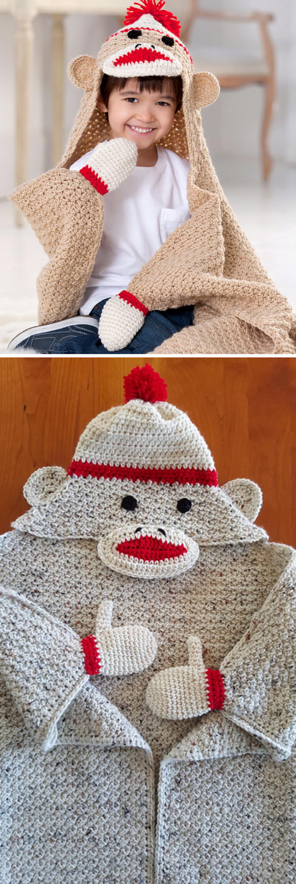 Sock Monkey Blanket.