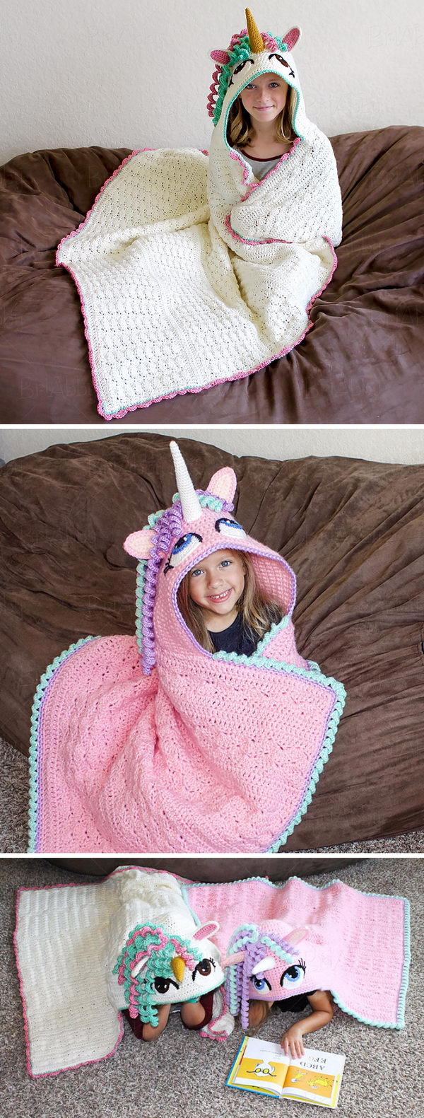 15 Crochet Hooded Blanket Ideas 2017