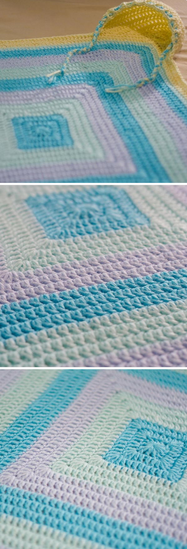 Colorful Hooded Baby Blanket.