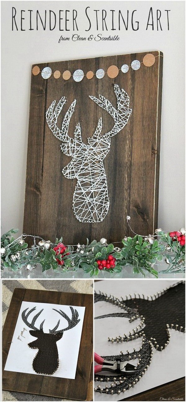 Reindeer Head String Art.