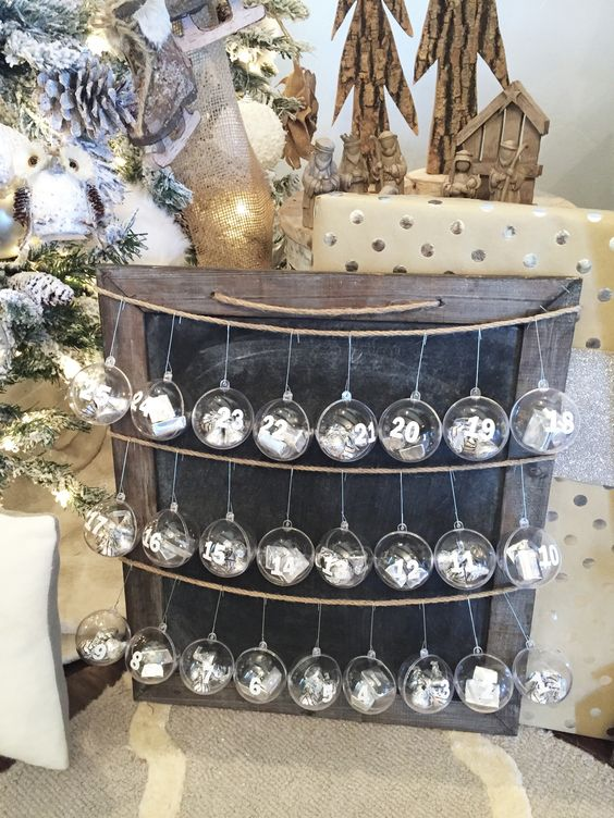 Super Easy And Affordable Rustic Advent Calendar.