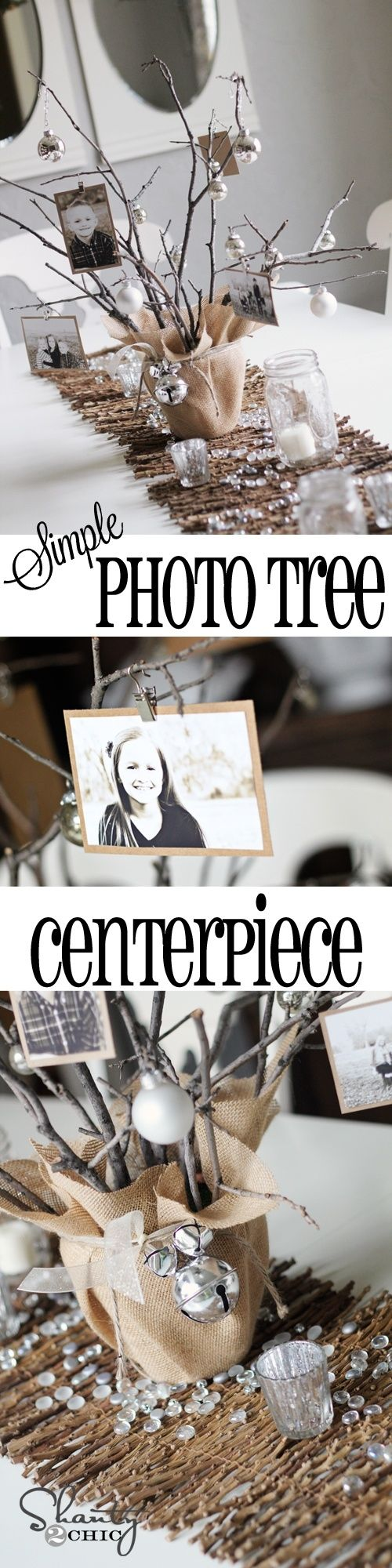 DIY Photo Tree Centerpiece.