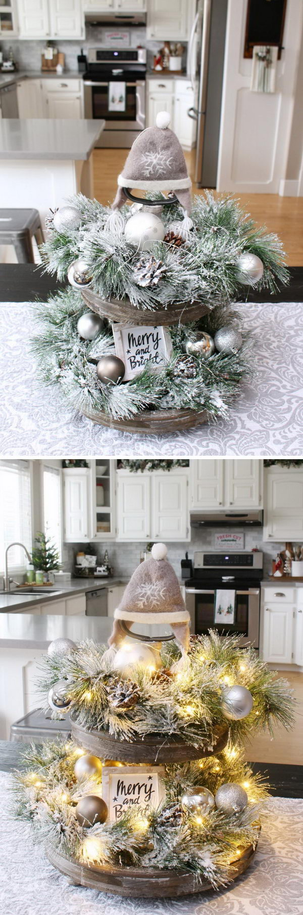 rustic light up christmas tray - Rustic Christmas Decor