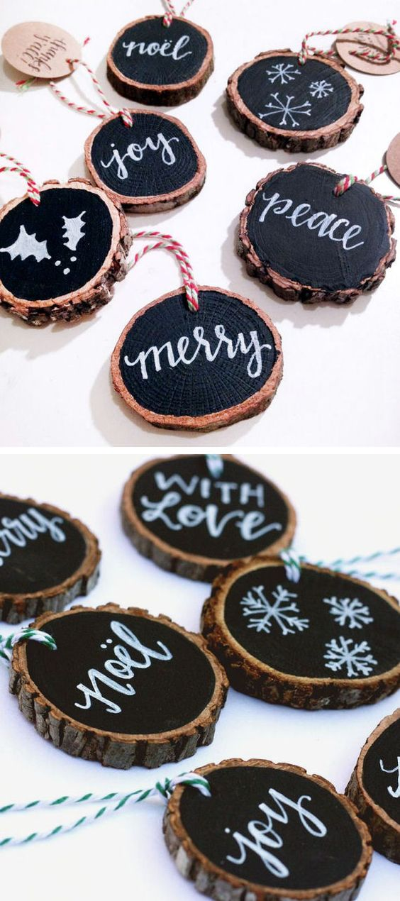 Rustic Tree Slice Tags.