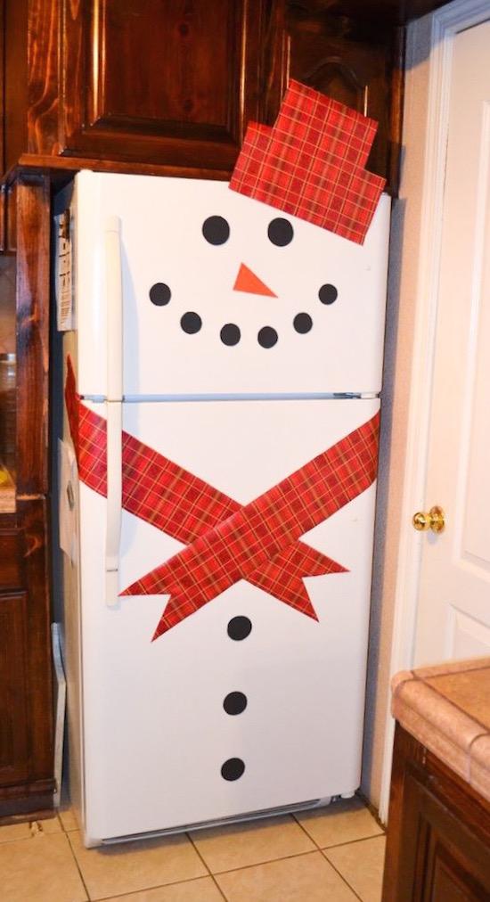 Snowman Refrigerator.