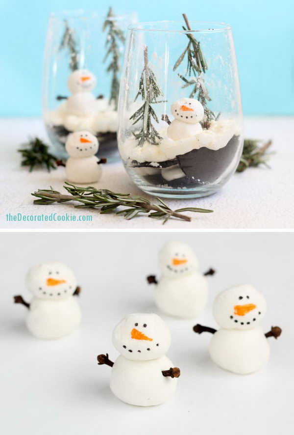 Ice Box Cake Snow Globe Dessert.