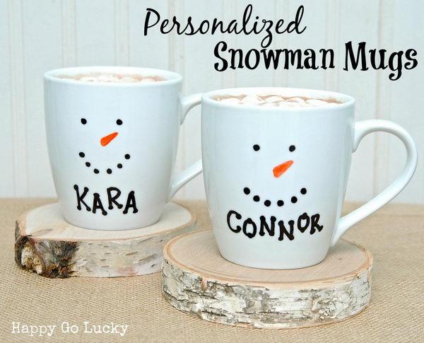 Snowman Mugs.