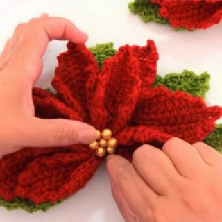 15+ Crochet Poinsettia Christmas Flower Ideas