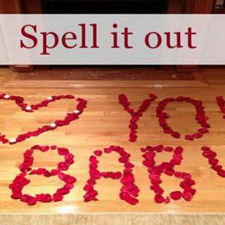 Valentine's Day Romantic DIY Arrangement with Rose Petals