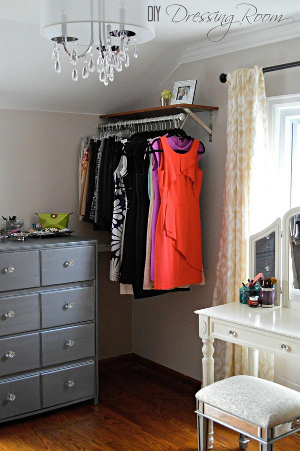 Clothes Bar In The Corner.