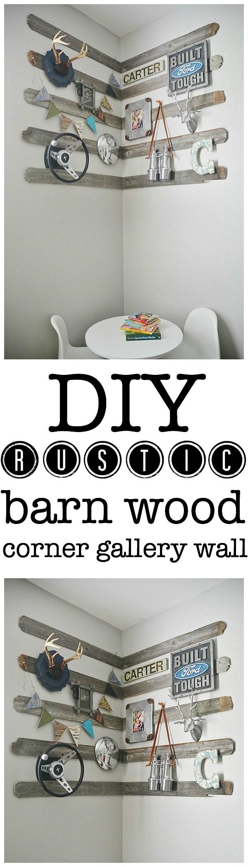 DIY Rustic Corner Gallery Wall.