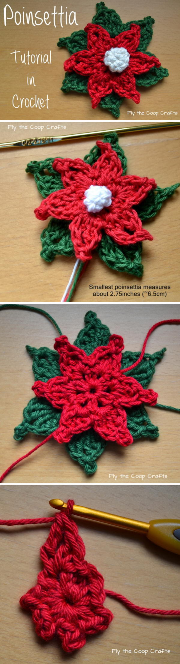 Crochet Poinsettia Motif.