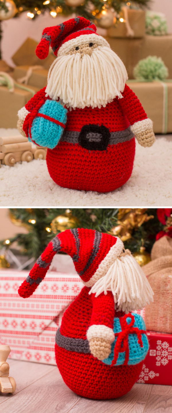 Crochet?Huggable Santa Pillow.